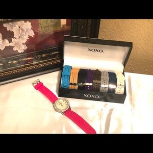 Xoxo Watch with interchangeable bands